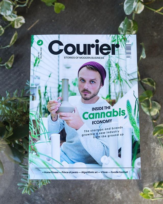 """We're delighted to be featured by @couriermedia in Courier Issue 25 — """"The cannabis economy, exploring the fascinating startups, brands, and people growing the industry from the ground up."""" Visit the link in our bio to read the insights of Mauria Betts, the Owner, and Founder of our cannabis agency, Potency, in the article online. Featured photographs of our work include branding and packaging for @eatcannavore, a marijuana-infused edibles line — branding and packaging for @Upwardcannabis, a cannabis kitchen creating infused cuisine and beverages — and branding for @Magichourcannabis, a minority, and female-owned cannabis grower. . . .  #cannabisindustry #cannabisbranding #weshouldsmoke #cannabiscommunity #orgoncannabis #weedstagram #cannabis #cannabisculture #cannabusiness #branding  #graphicdesign #brandidentity #graphicdesigner #entrepreneur #business #print  #brandingdesign #branddesign #identity #packagingdesign #cannabiscreative  #highvibes #topshelflife #CBD #pdxdesign #womeninweed #womenincannabis #cannabisconnoisseur"""