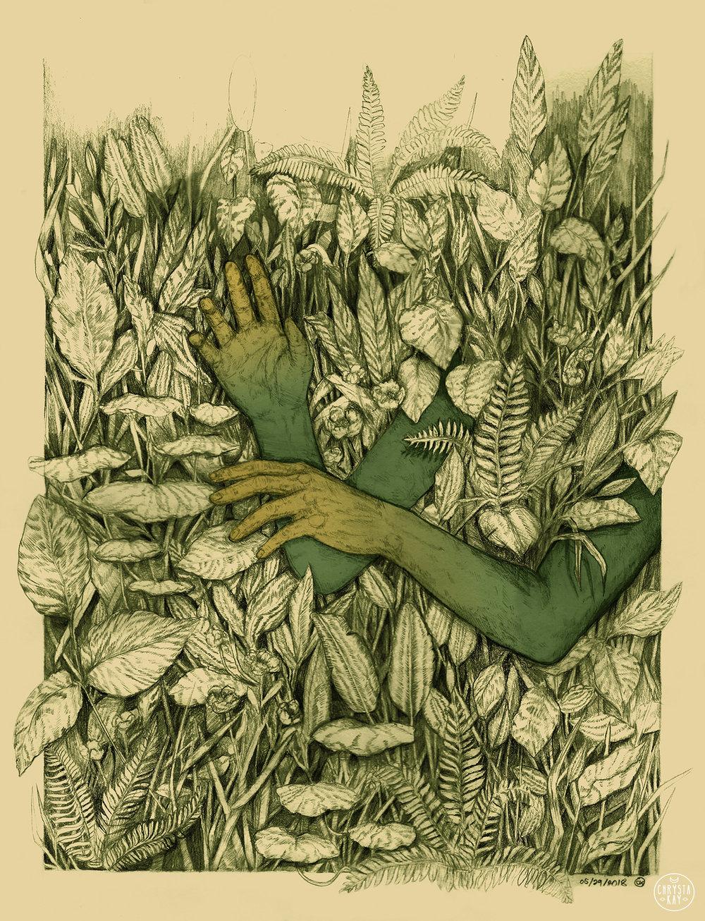 """Through The Ether"" original artwork by Chrysta Kay"