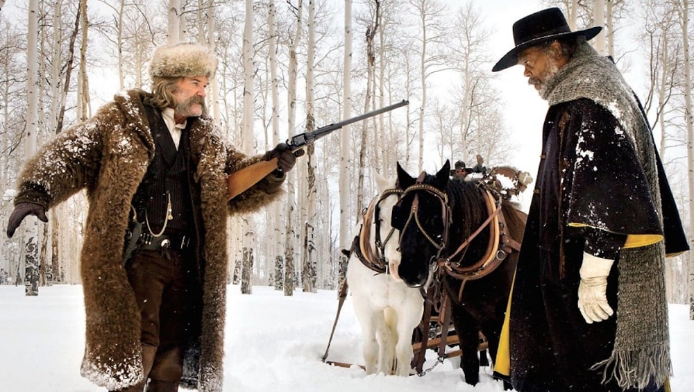 Major Marquis Warren (Samuel L. Jackson) and John Ruth (Kurt Russell) are just two representatives from  The Hateful Eight 's cornucopia of memorable characters. (The Weinstein Company)