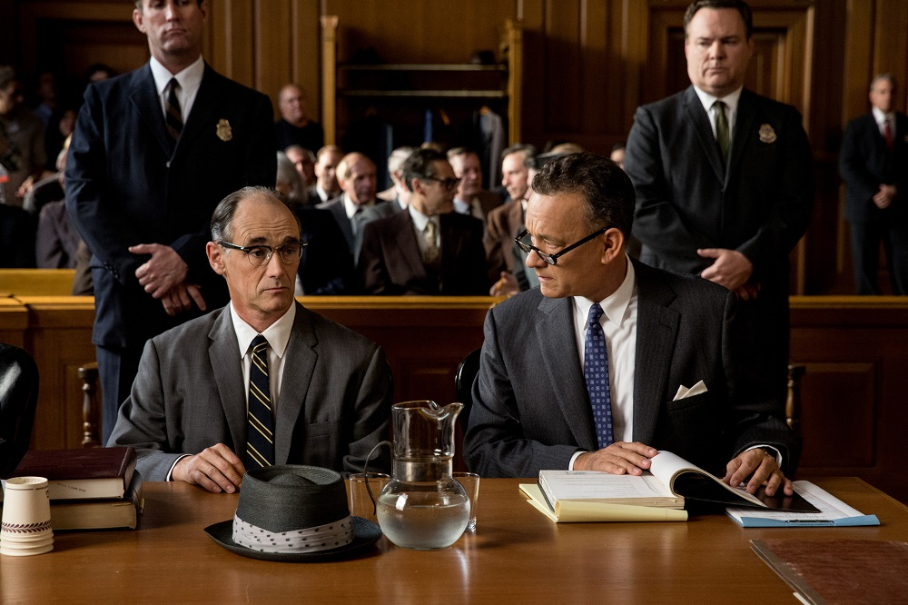 Bridge of Spies  sports a steady acting core in master Tom Hanks (right) and expert Mark Rylance (right) .  (Amblin Entertainment)