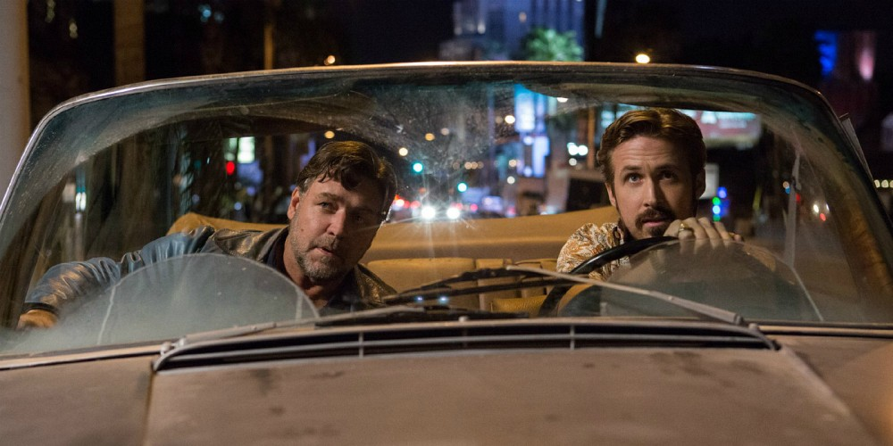 The hilarious pairing of Holland March (Ryan Gosling) and Jackson Healy (Russell Crowe) is reason enough to check out  The Nice Guys , a 70's style buddy-cop comedy. (Warner Bros. Entertainment)