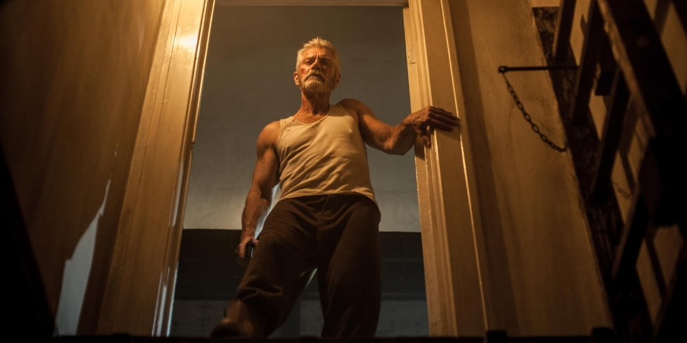No sight? No problem. The Blind Man (Stephen Lang) may have a crippling weakness, but his clever workarounds cause nightmarish problems for the young robbers. (Ghost House Pictures / Screen Gems)
