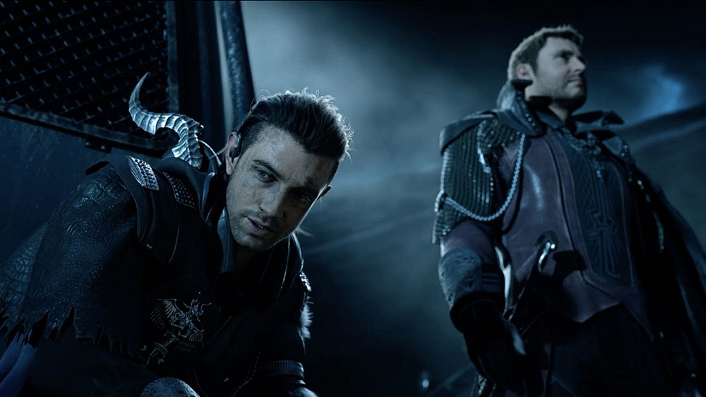 Nyx Ulric (voiced by Aaron Paul) is one of many soldiers in the Kingsglaive, an elite group of soldiers with fantastical abilities. (Square Enix / Sony Pictures)