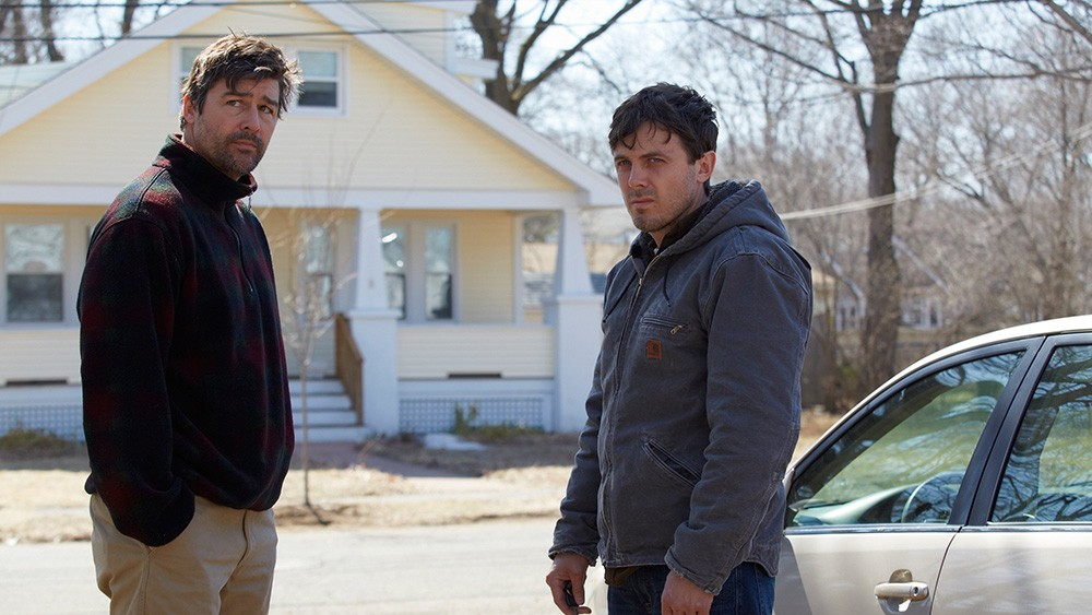 Casey Affleck (right) is the bright spot in an otherwise underwhelming movie. (Amazon Studios)