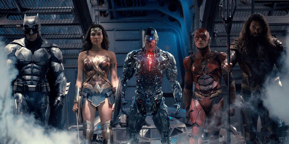 The all-star superhero cast is a spectacle to behold, but their grand movie debut is simply serviceable - and that's ok. (Warner Bros.)
