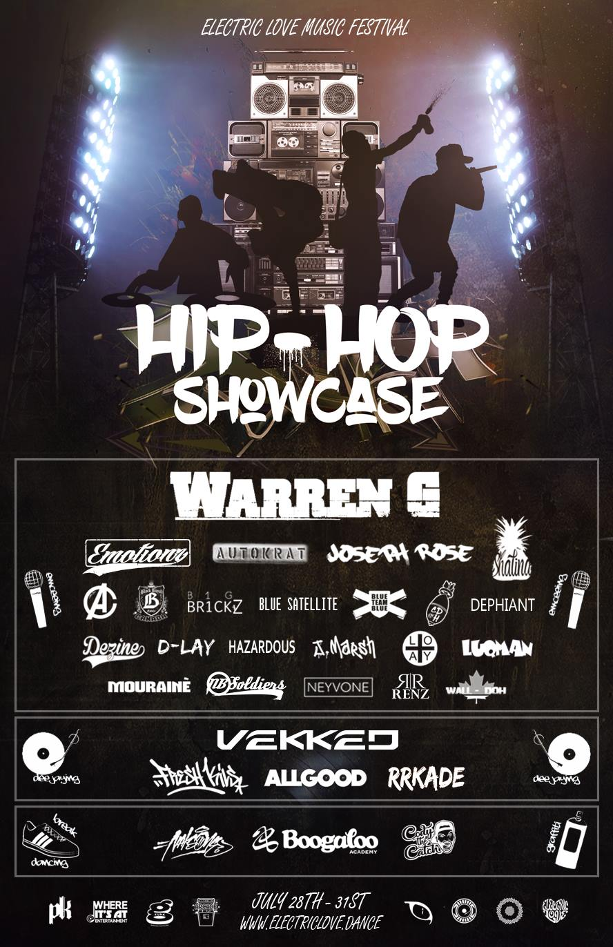 Click on the image to go to the Hip-Hop showcase page so you can get acquainted with the artists and performers. This is going to be a very special event because we have all four elements of hip hop in this showcase.