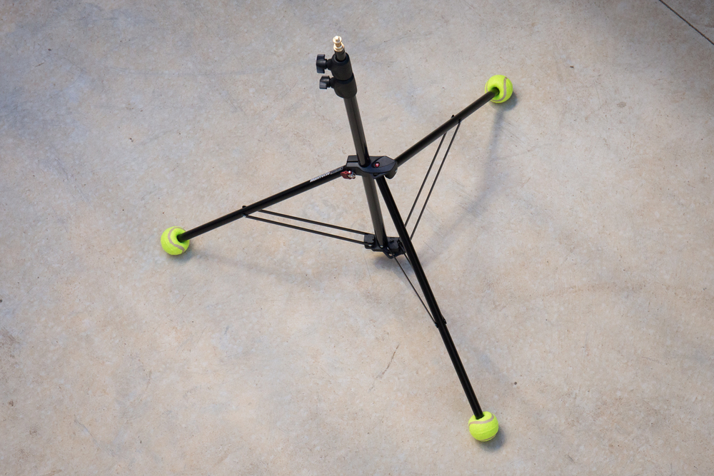 You will be the coolest photog' in town with these stylish tennis balls attached to your light stands.