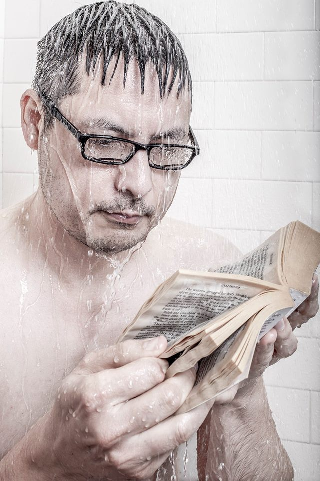 Shower portrait of Mike Lim by Chris Holmes