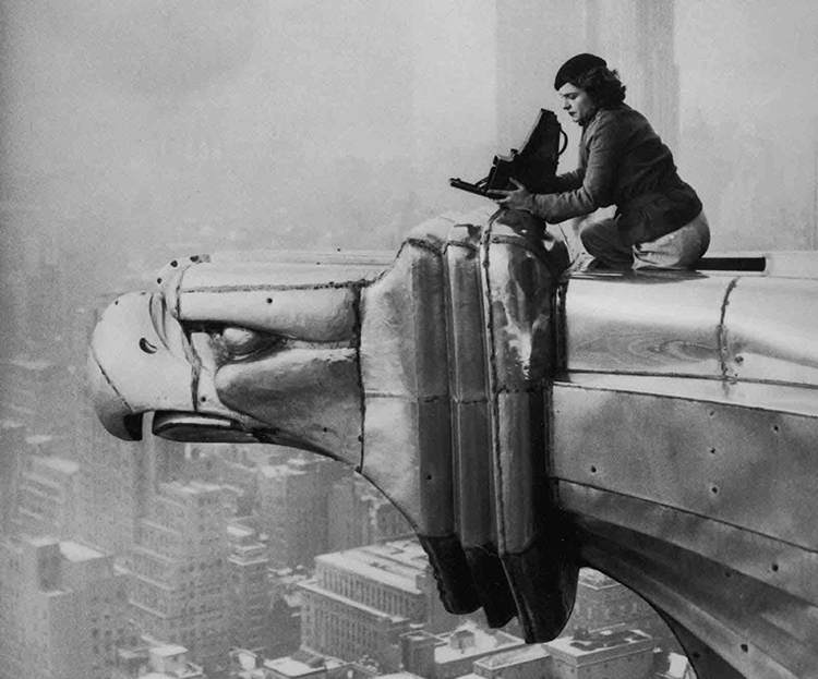 Note: just look at her amazing nerves-of-steel to shoot this: Margaret Bourke-White, female pioneer, braver (with less vertigo) than I'd ever be.