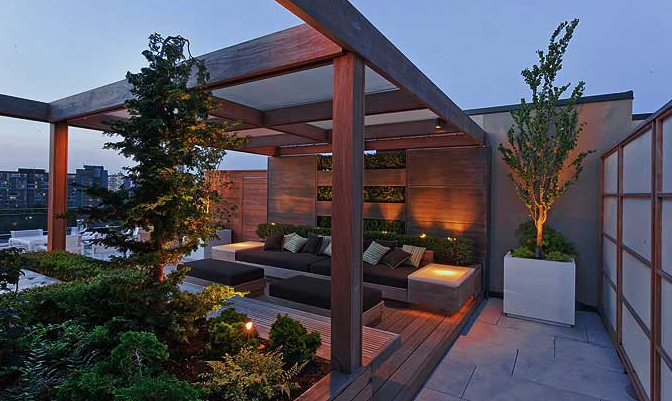 image via: ronaldholbrook.com      Use timber for a striking and structured contrast to lush foliage.