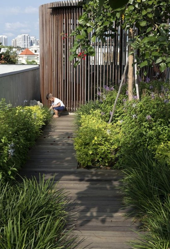 Rooftop gardens give new life to unused urban spaces. Image via Archdaily.