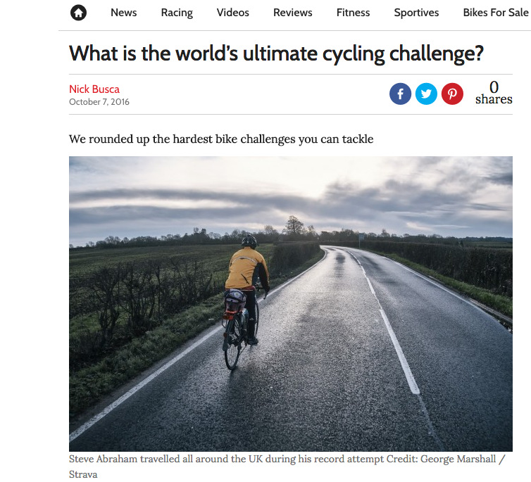 What is the world's ultimate cycling challenge?