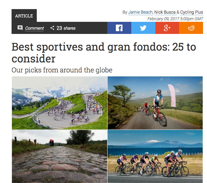 Best sportive and gran fondos: 25 to consider
