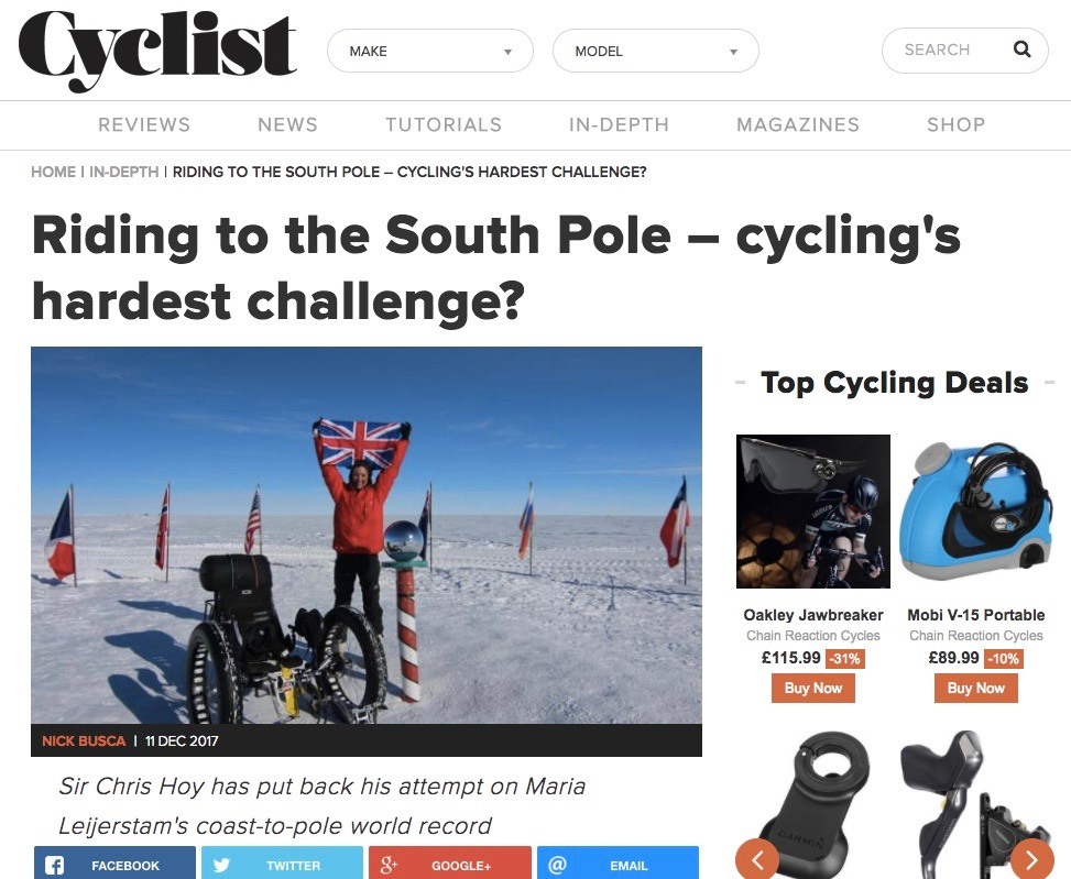 Riding to the South Pole