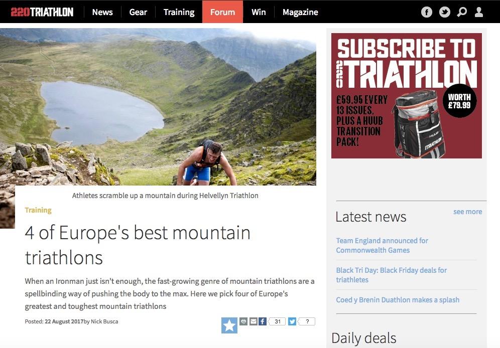 Mountains triathlon