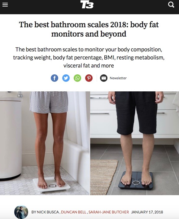Best bathroom scales and body fat monitors
