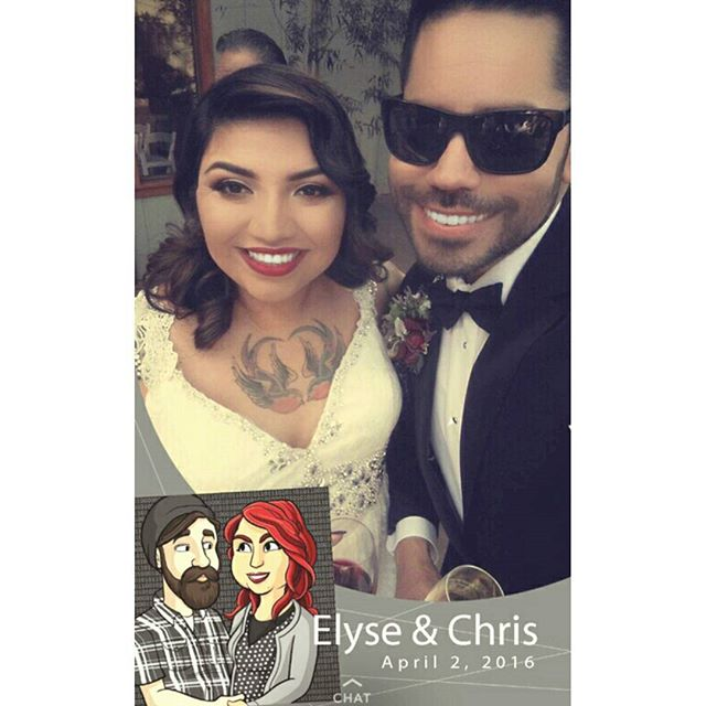 When your boo gets married you have to come through with the Snapchat filter! @elyse_biettchert (SVP Style on Snap: artistry620)
