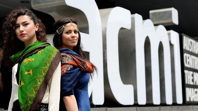 Iniki Saed and Sara Karimi at ACMI where the Iranian Film Festival will screen. Picture: Angie Basdekis