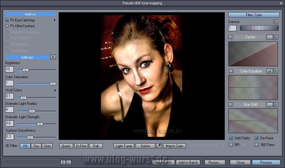 Pseudo HDR tut Portraits oft nicht gut