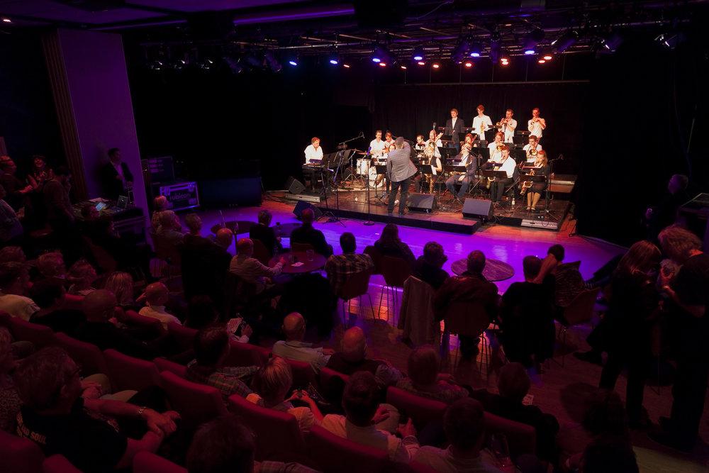 Big Boss Band og Tarjei Grimsby gjestet Universet på Romerike Storbandfestival 2015. Foto: Halvor Gudim