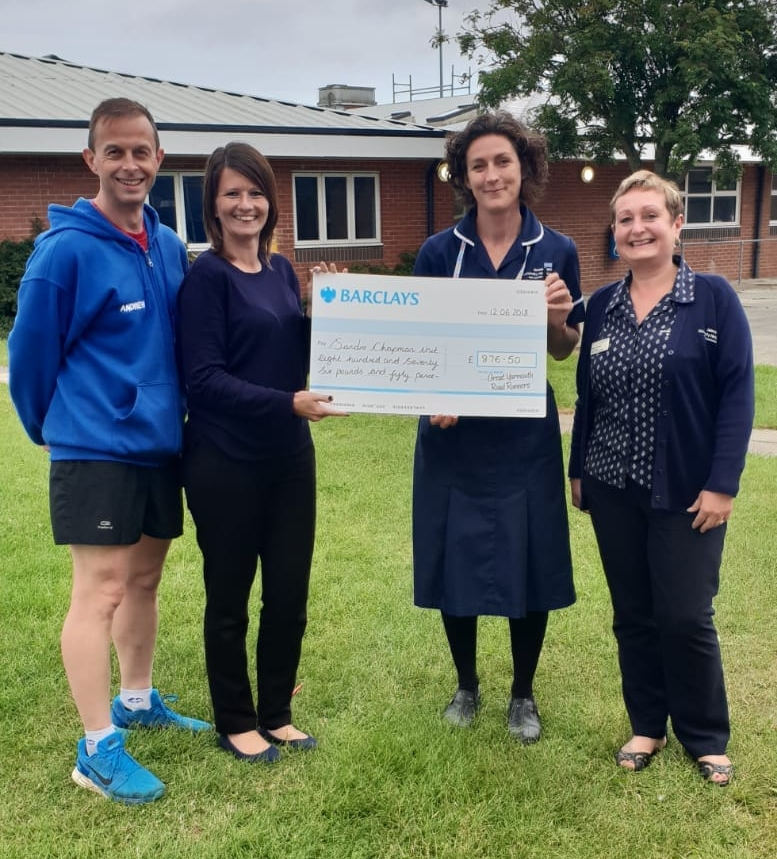 Left to right: Andrew Baker (club Chairman), Jodie Lee (Race Director), Toni George and Karen Dormer.