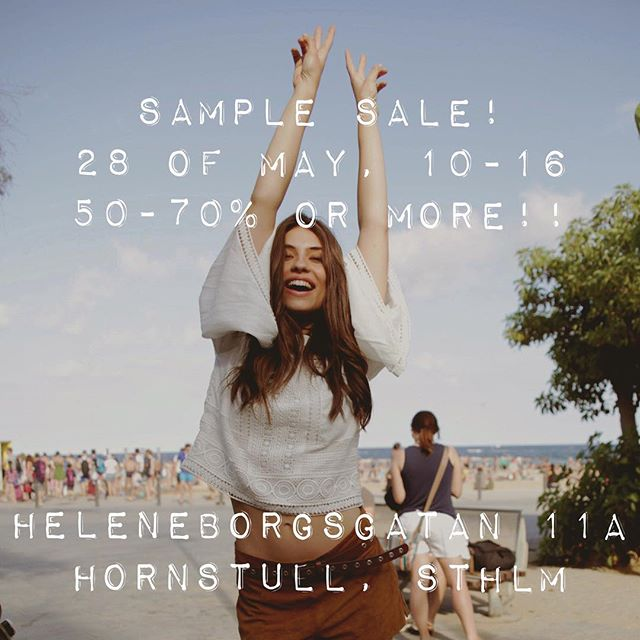 Don't miss out!! Vi deltar i Stora återvinningsfesten i Hornstull nu på Söndag och öppnar upp vårt HQ med en Super Sample Sale💥💸👗👘👚👖#sale #samples #rea #dress #tees #top #favclothing #ss17 #aw17 #ss16 and more..