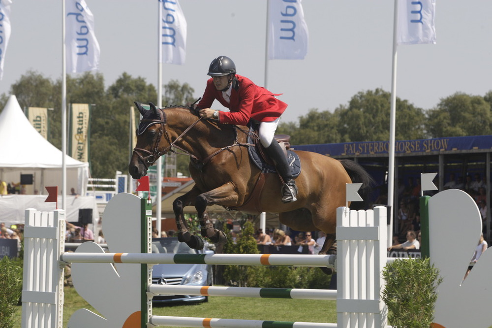 En av våra hästar under Falsterbo Horse Show