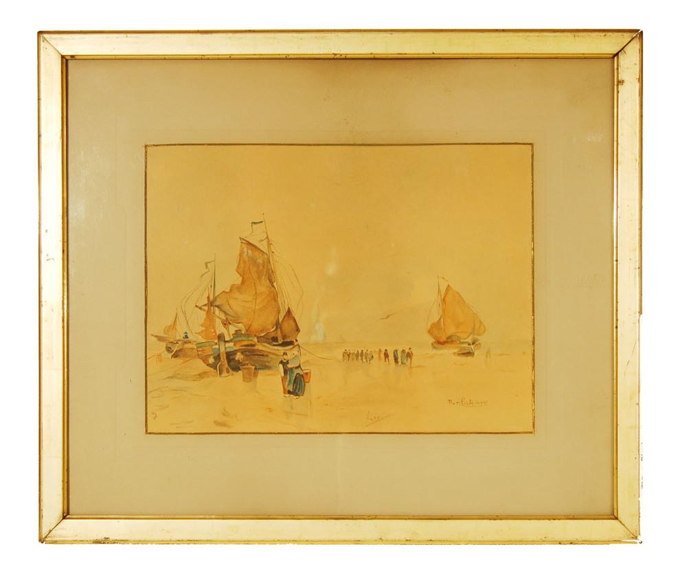 Cassiers Henry, geb. 1858 Antwerpen, Hafenszene Tampere, 60x51cm