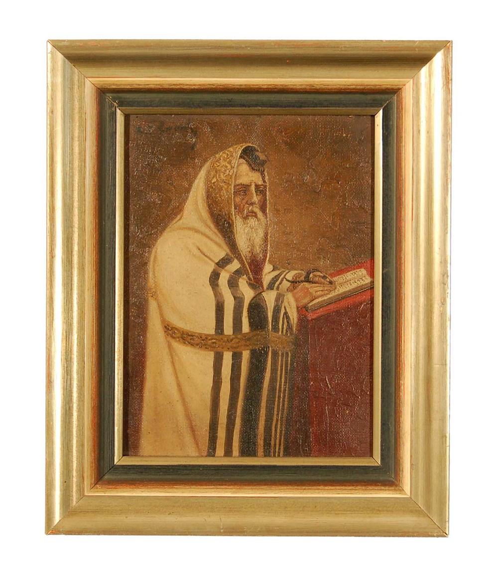 Priester im Ornat, Öl/Leinwand, 23x29cm