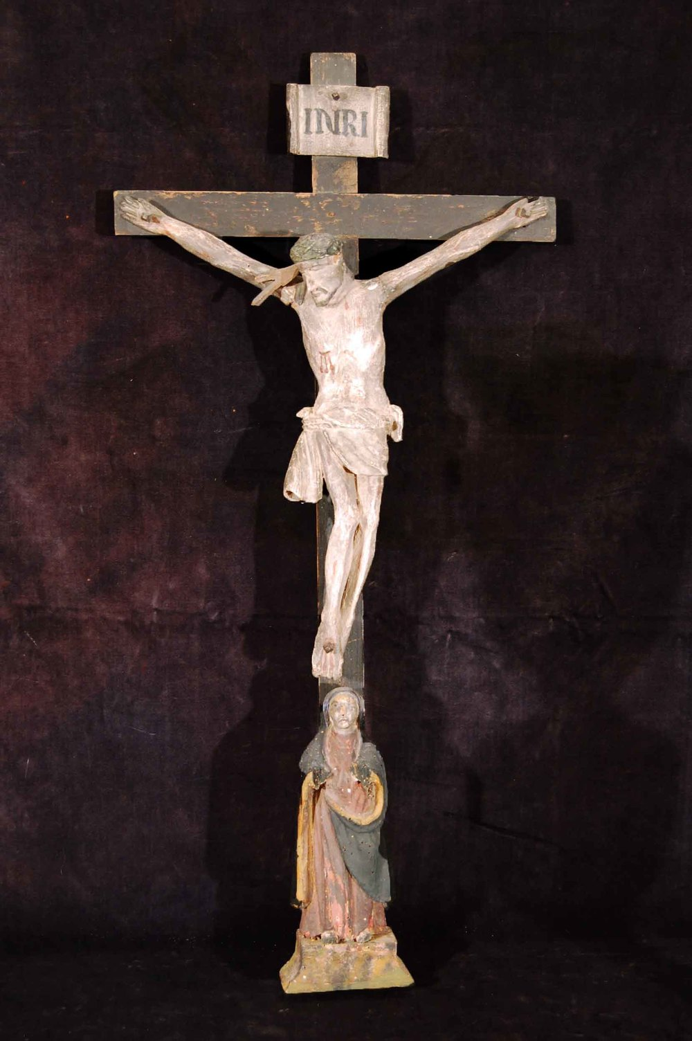 Kruzifix (Biedermeierzeit); Österreich 19.Jh, Höhe ca.72cm