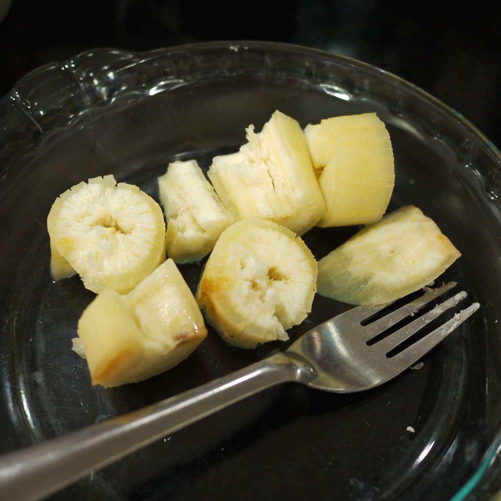 steamed yuca