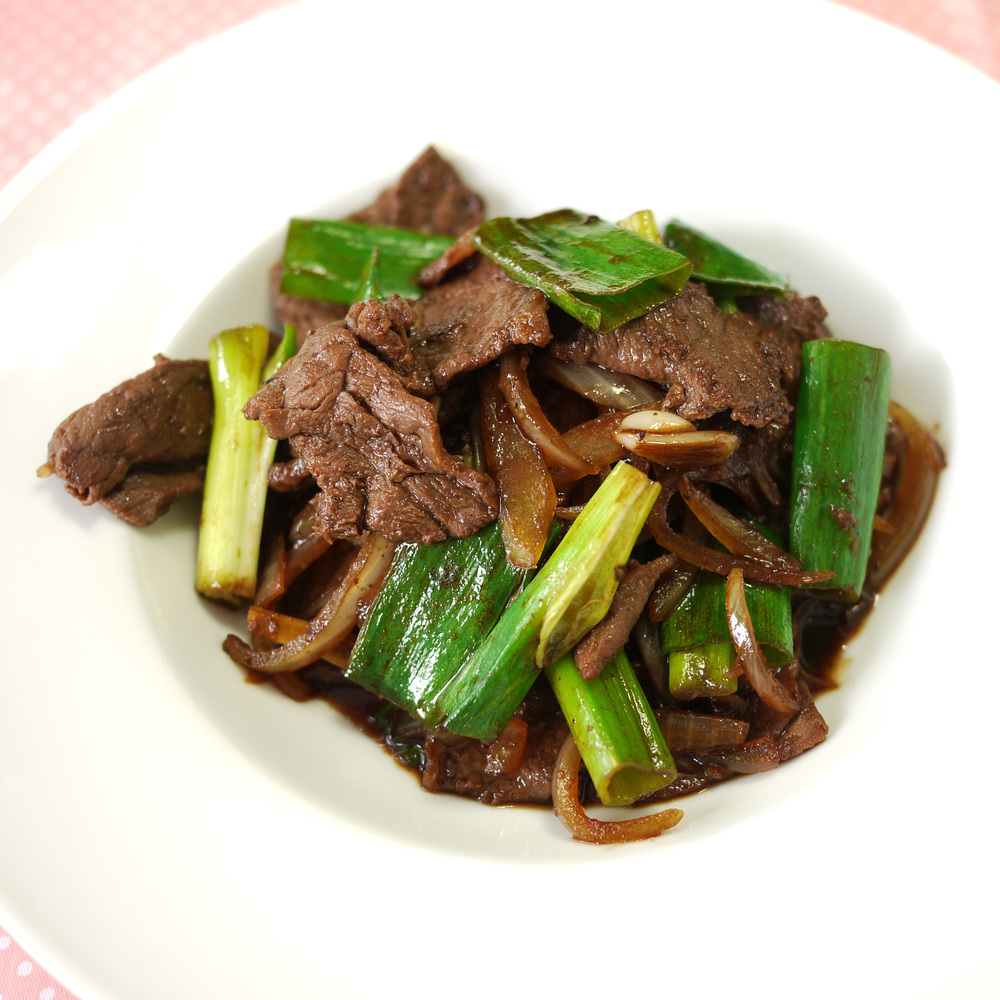 Mongolian Beef with Scallions