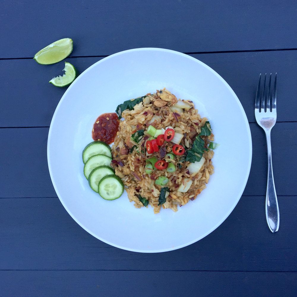 Nasi Goreng with a squeeze of fresh lime. PHOTO: COPYRIGHT EIGHTEEN THOUSAND ISLANDS 2015