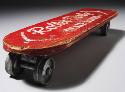 1920s Plywood Skateboard, © V&A Museum London