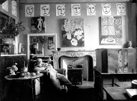 Henri Matisse in his studio 'Villa Reve', Venice 1948