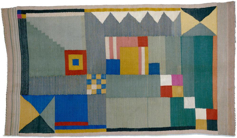 Woven Bauhaus textile by Benita Koch-Otte 1923