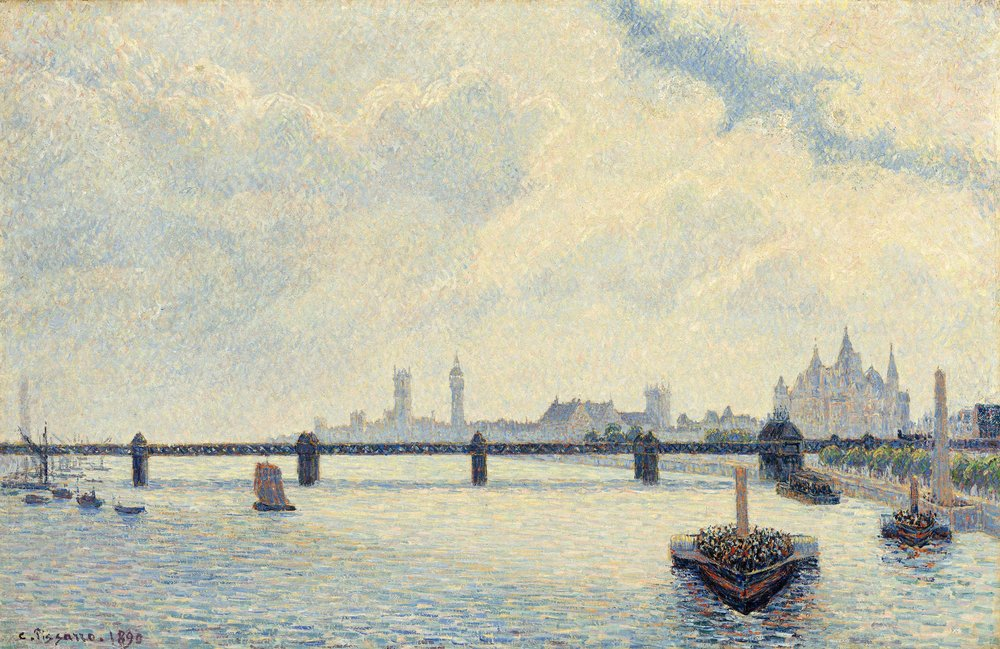 Camille Pissarro, Charing Cross Bridge, London - 1890
