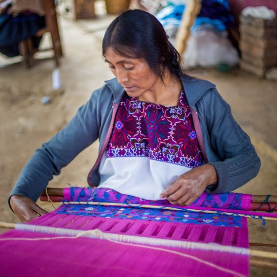 Angelina, one of the skilful artisans behind Montes & Clark's fabrics - their products directly support communities in Mexico,