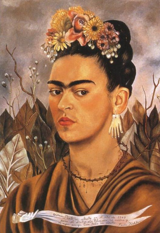 Self Portrait Dedicated to Dr Eloesser, 1940 - by Frida Kahlo