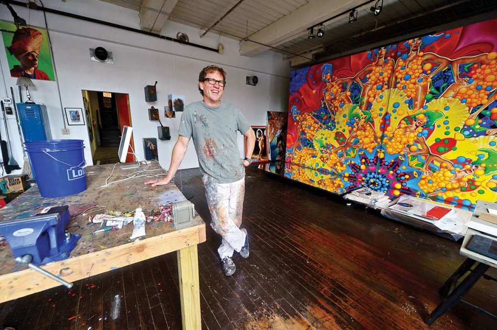 Photo: Erik Troutmann The Hour Wednesday, June 8, 2016.Painter Wiiliam Nelson in his studio at Firing Circuits, which provides space to 30 area artists in an former industrial building at 1 Muller Place in Norwalk, Conn.
