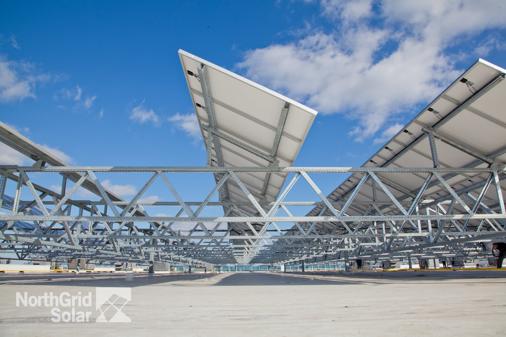 An Elevated Truss System installed in Waterloo, Ontario.