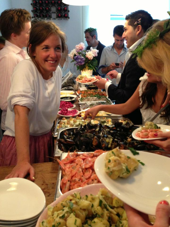 Midsummer celebration 2013, London, summer buffet.