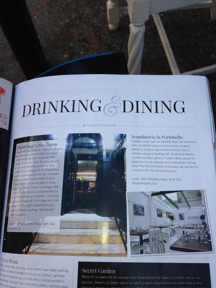 Kensington & Chelsea Magazine, 2014 London.