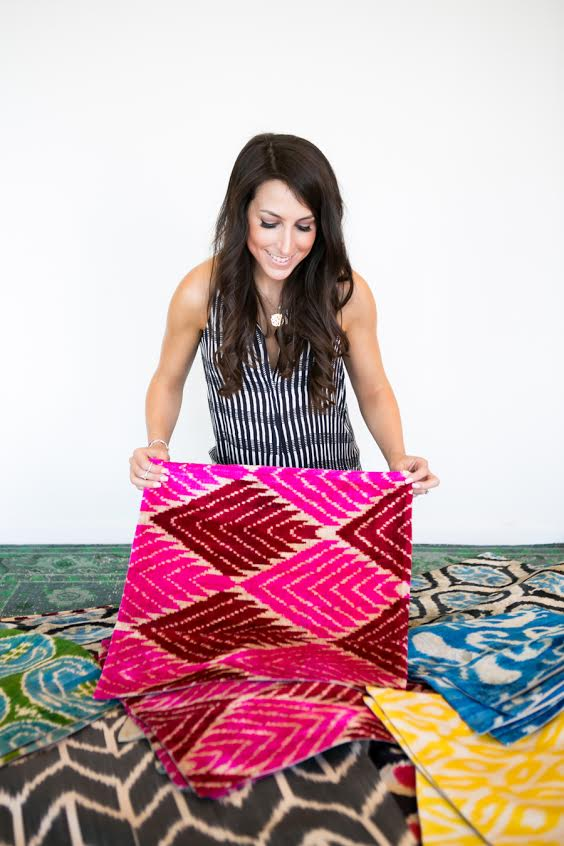 Sara Brenner | Lulu and Georgia | Rug inspiration | Bohemian textiles | The School of Styling - http://www.theschoolofstyling.com