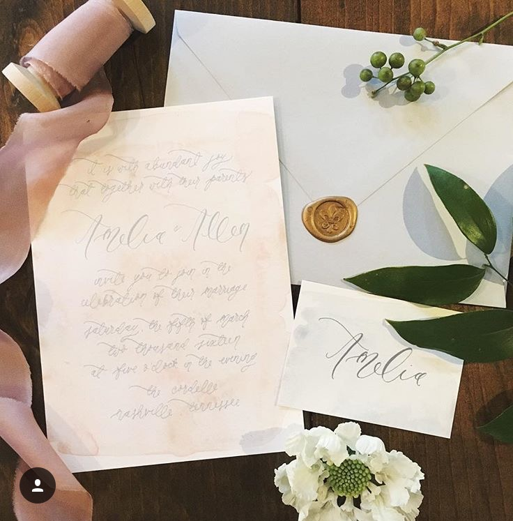 Flat styling | Calligraphy ideas | Invitation inspiration | The School of Styling Nashville - A three-day hands-on workshop for creative entrepreneurs. http://www.theschoolofstyling.com