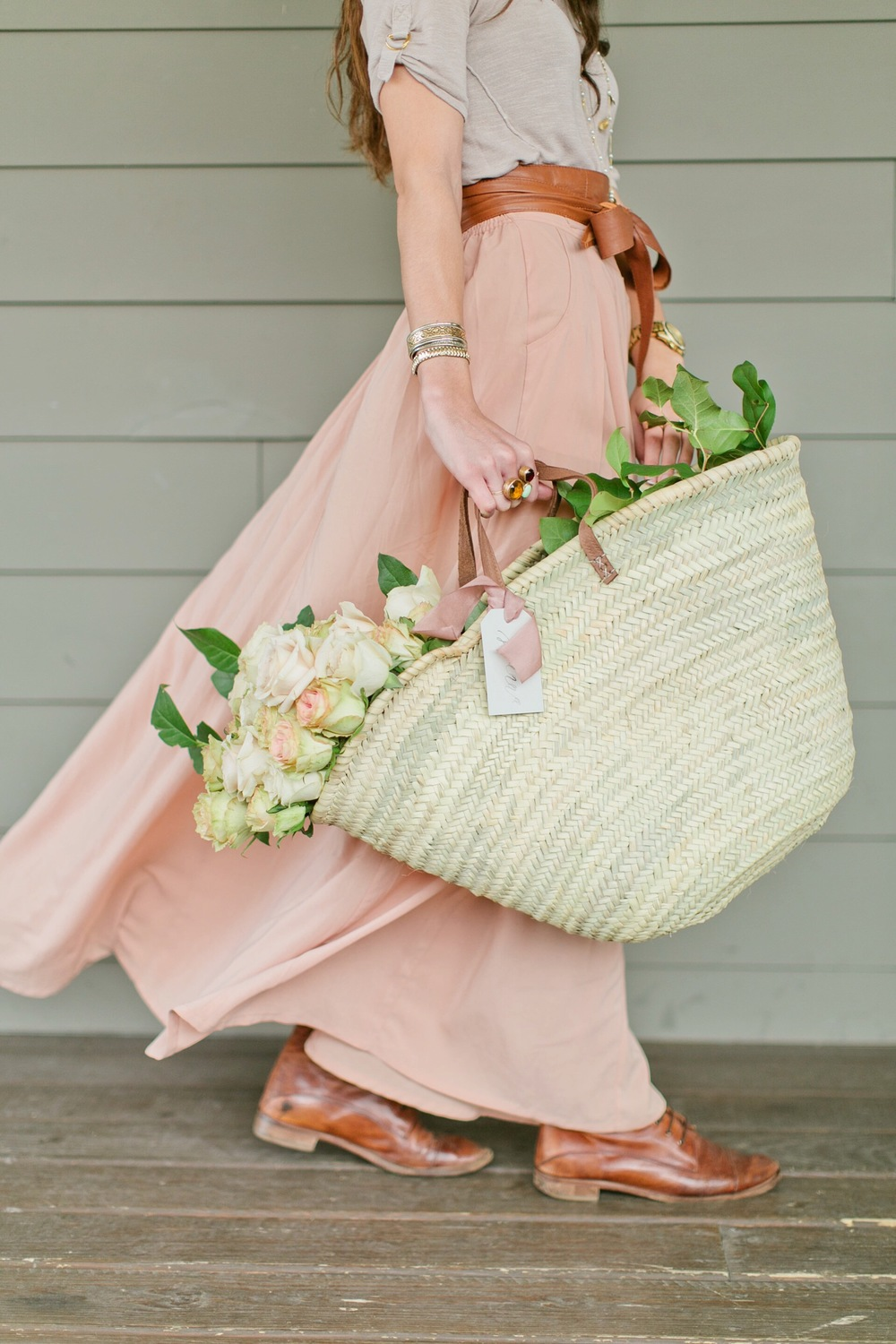 Nashville, Tennessee | Gift basket inspiration | Floral inspiration | Maxi skirt | The School of Styling - A three-day hands-on workshop for creative entrepreneurs. http://www.theschoolofstyling.com