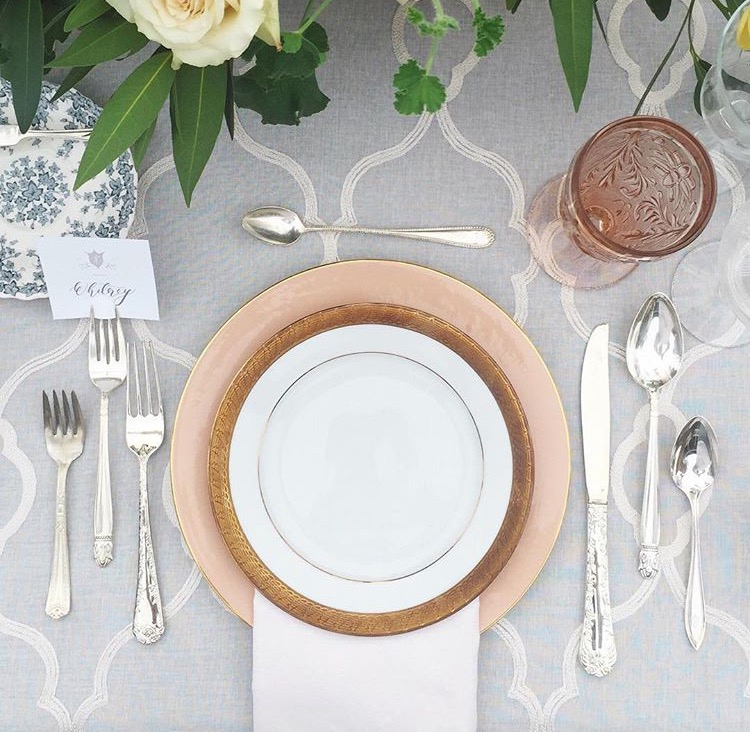 Table setting inspiration | Floral china | Dinner party inspiration | The School of Styling Nashville - A three-day hands-on workshop for creative entrepreneurs. http://www.theschoolofstyling.com