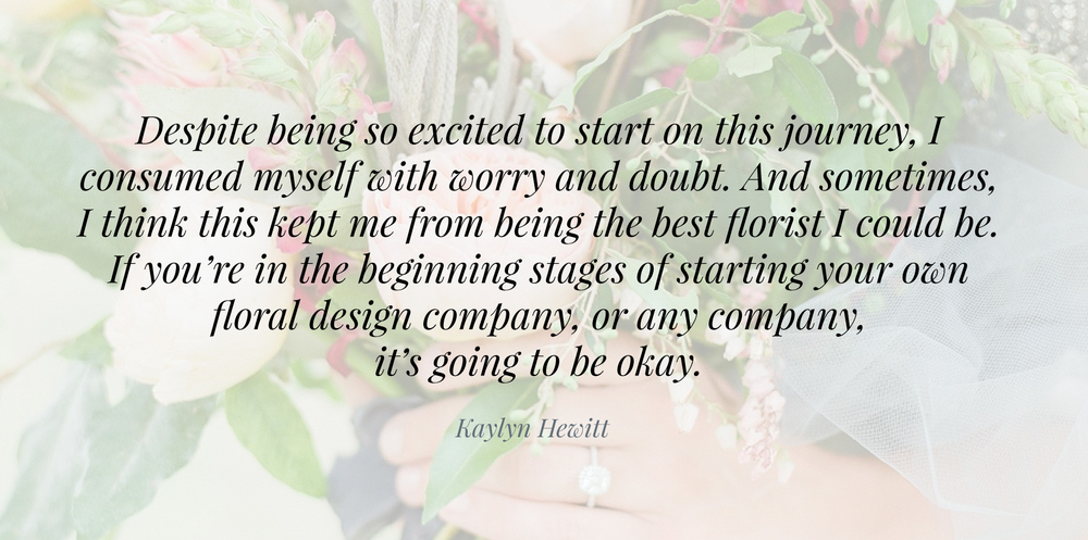 Five Things I Wish I Knew Before Opening a Flower Shop | Advice for entrepreneurs | The School of Styling - A three-day hands-on workshop for creative entrepreneurs. | Written by Kaylyn Hewitt of 1956blooms. http://www.theschoolofstyling.com