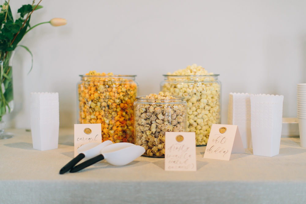 Snack bar-snack station-popcorn bar-food styling-food inspiration-DIY snack bar-