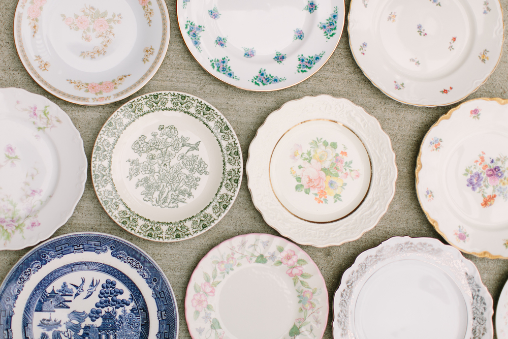 Vintage-fine china-plates-wall decor-home decor-dining room-